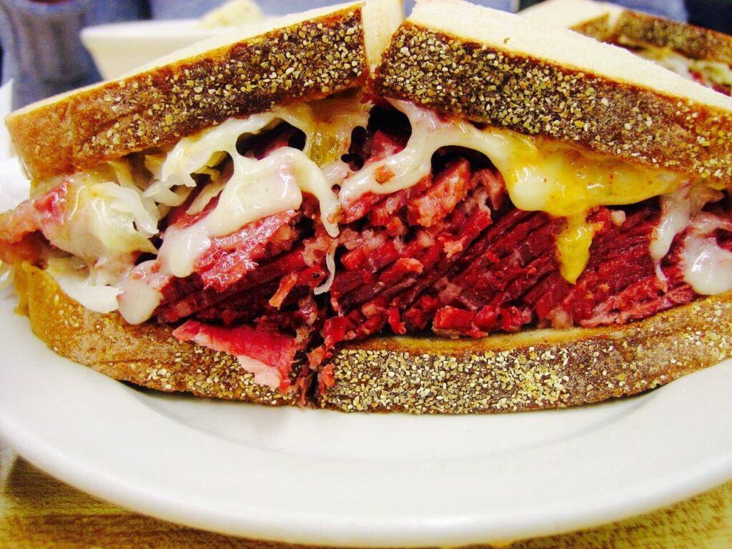 Corned Beef Reuben Sandwich From Katz's Deli