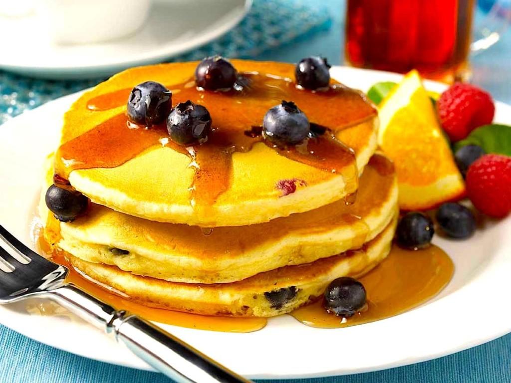 Bridget's Blueberry Pancakes