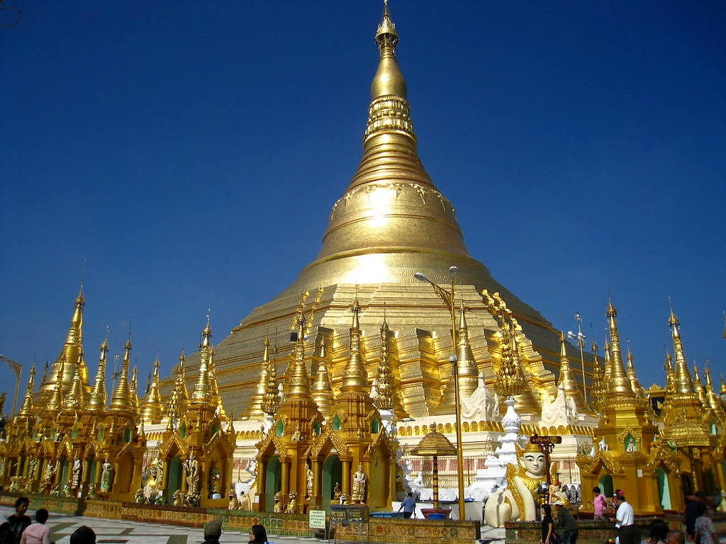 The Shwedagon Golden Pagoda in Yangon, Myanmar