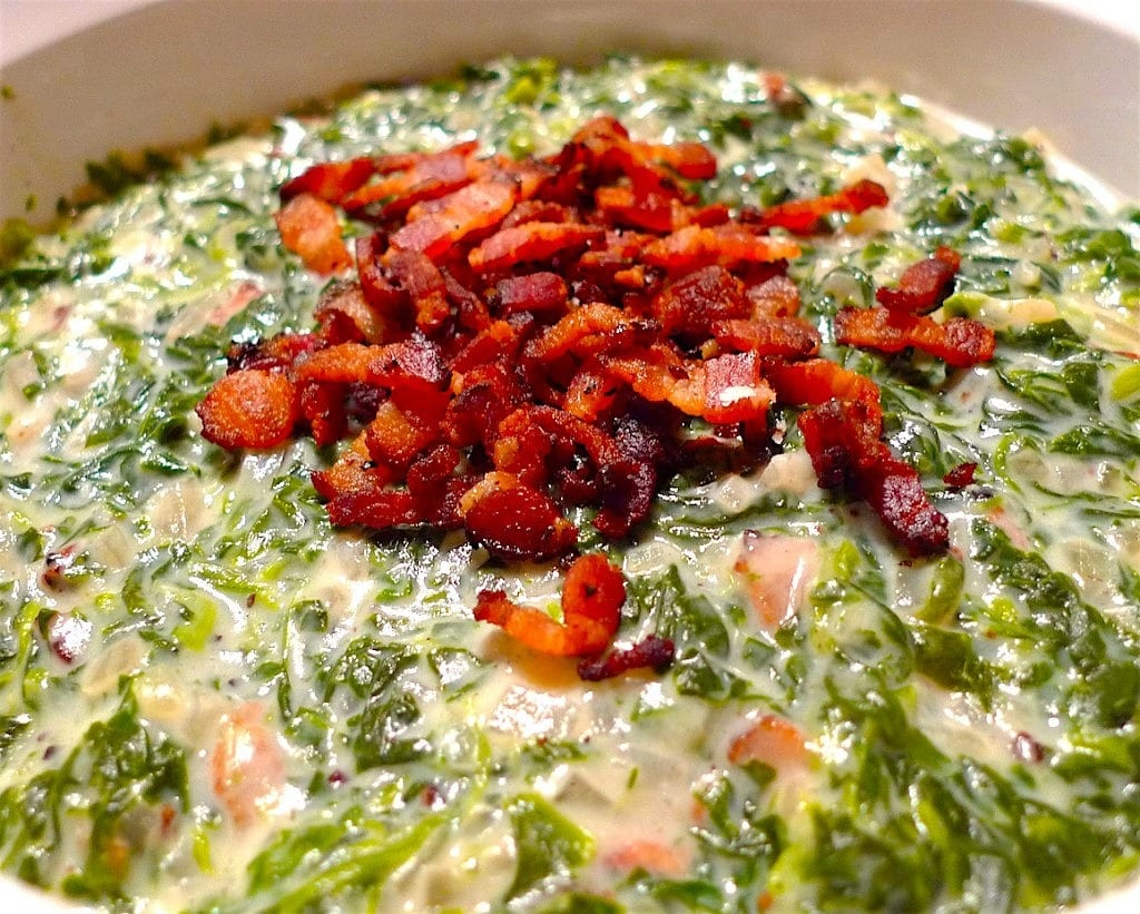 The Hirshon Creamed Spinach With Bacon