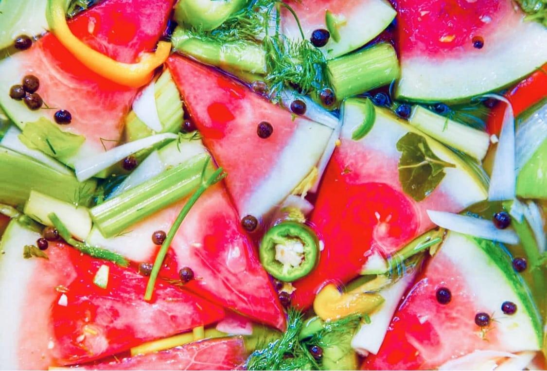 The Hirshon Russian Pickled Watermelon - марино́ванный арбу́з