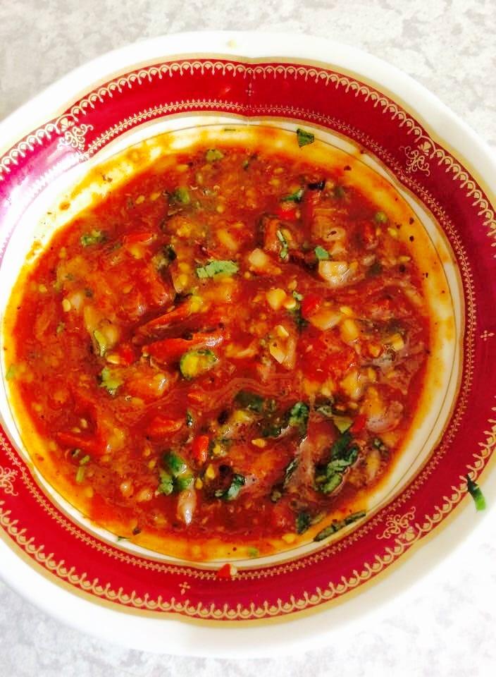 The Hirshon Nepali Tomato Achaar - अचार गोल्भेडा