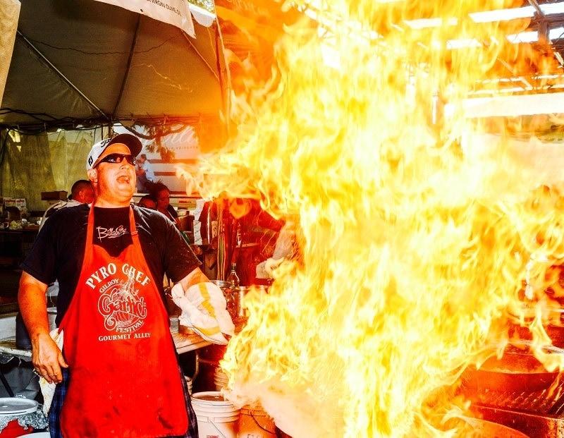 Gilroy Garlic Festival Pyro Chef