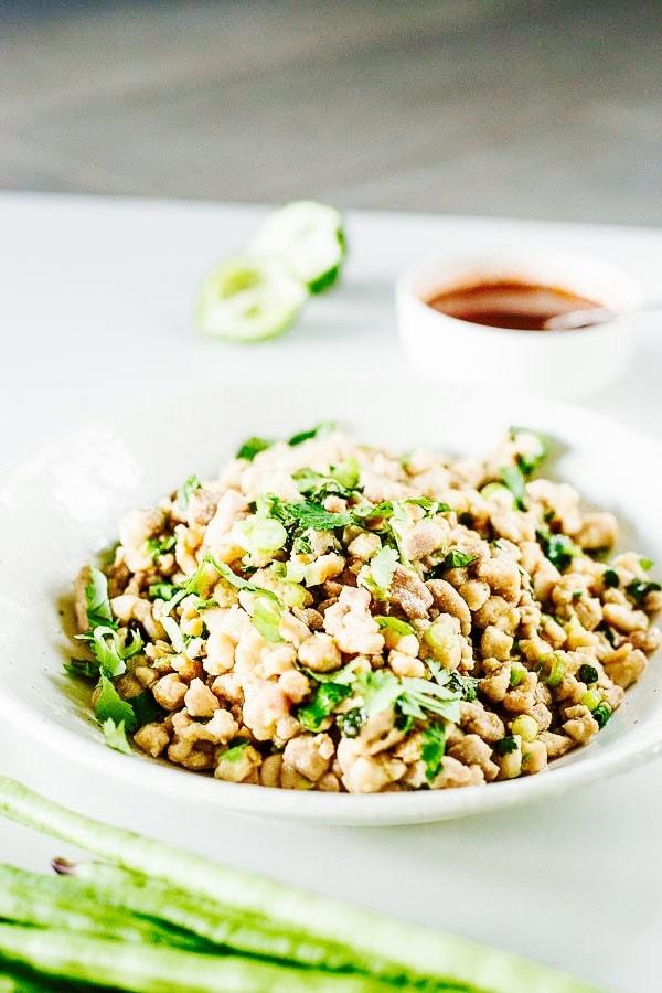 The Hirshon Laotian Chicken Larb Salad - ຊີ້ນ ໄກ່ ເຢັນ