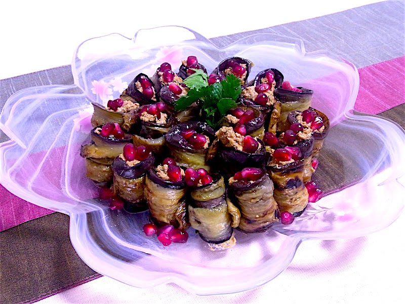 The Hirshon Georgian Eggplant with Garlic and Walnuts - ბადრიჯანი ნიგვზით