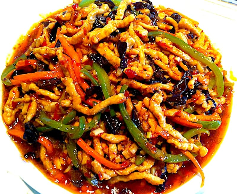 The Hirshon Sichuan Shredded Pork in Hot Garlic Sauce -鱼香肉丝