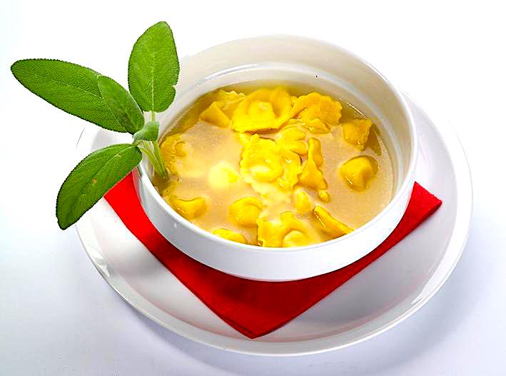 The Hirshon Emilia-Romagna Meat-Stuffed Pasta in Capon Broth - Cappelletti in Brodo di Cappone
