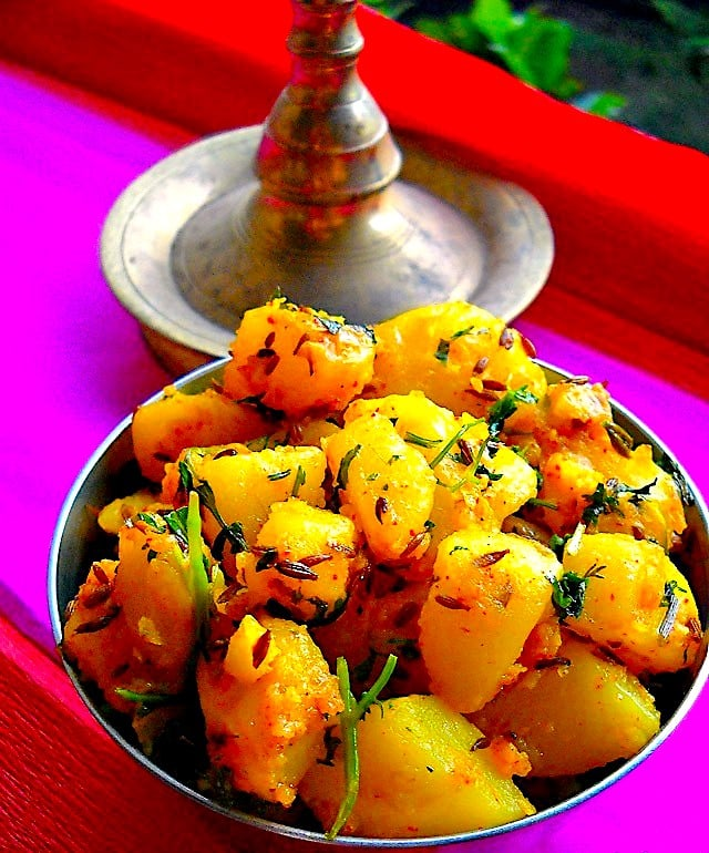 The Hirshon Punjabi Fried Potatoes With Spices - जीरा आलू