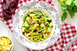 The Hirshon Puglian Pasta With Greens, Sausage And Anchovy – Orrechiette Alla Barese