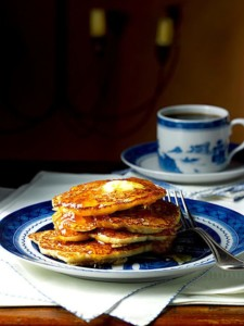 George Washington's Hoecakes With Butter And Syrup