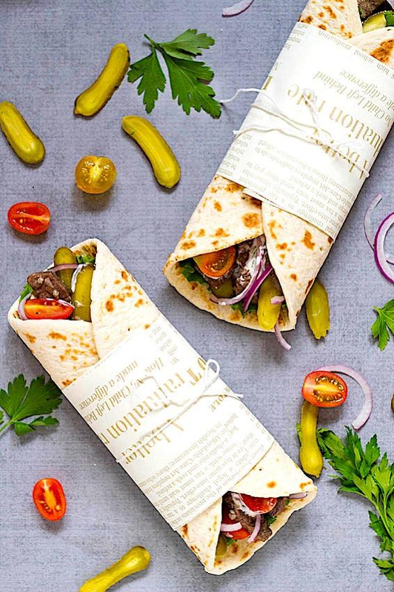 The Hirshon Lebanese Beef Shawarma - شاورما