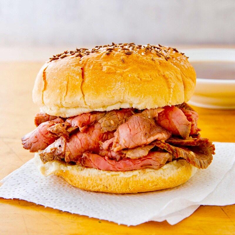 The Hirshon Northern New York Beef on Weck Sandwich