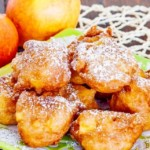 Lüchow's Apple Fritters With Wine Foam