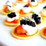 Gary Danko's Buckwheat Blini With Smoked Salmon, Crème Fraîche & Caviar