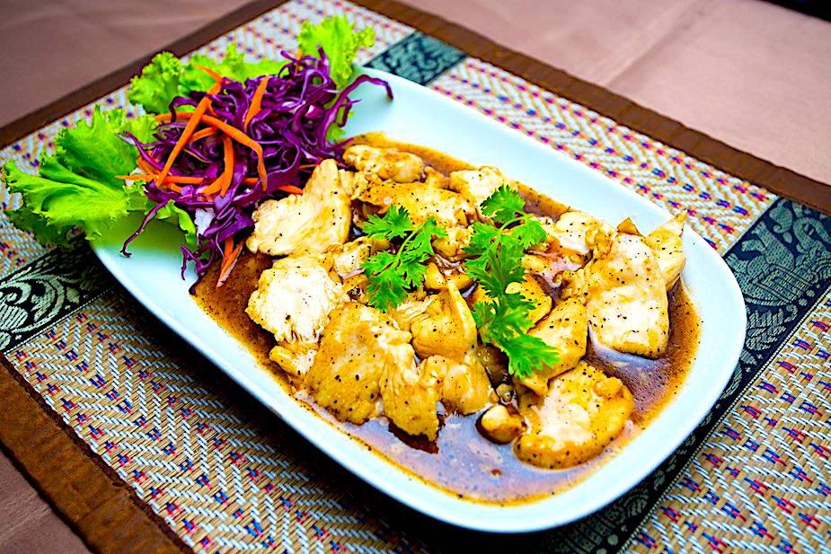 The Hirshon Thai Garlic Pepper Chicken - ไก่ผัดกระเทียม