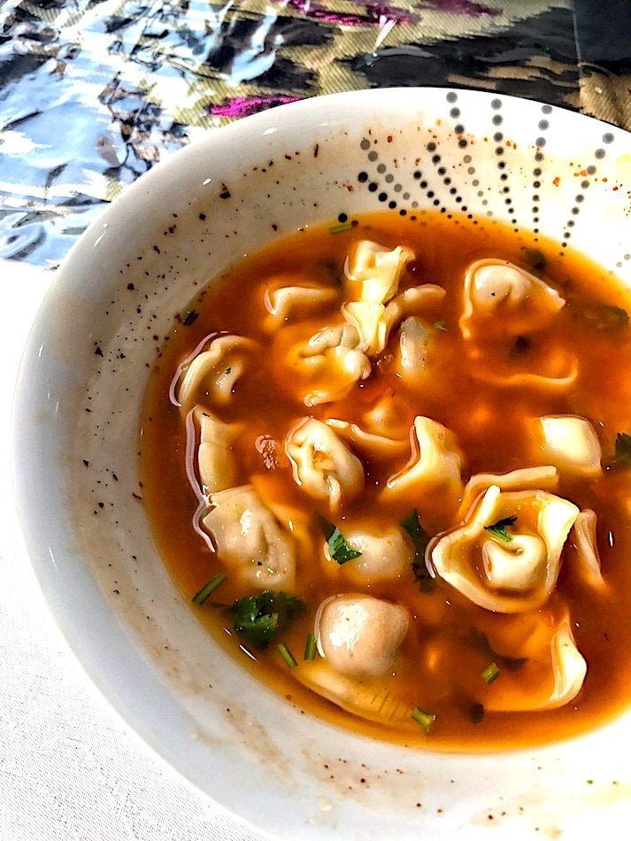 The Hirshon Uyghur Tortellini and Lamb Soup - قۇقۇرې سورپا