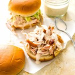 The Hirshon Tennessee Smoked Pulled Turkey Sandwiches with Crispy Skin