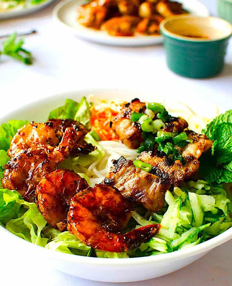 The Hirshon Vietnamese Grilled Pork and Shrimp With Rice Noodles – Bún Thịt Nướng Tôm