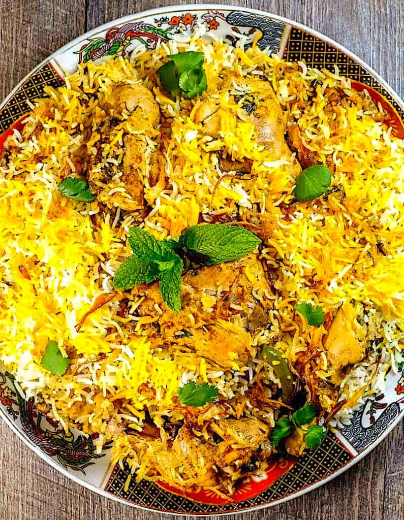 The Hirshon Hyderabadi Chicken Dum Biryani - హైదరాబాదీ చికెన్ బియానీని