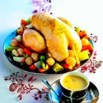 The Hirshon French Imperial Stuffed Chicken With Vegetables and Sauce Gribiche - Poule au Pot