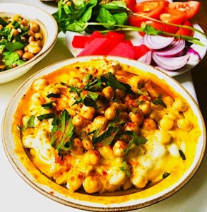 The Hirshon Syrian Whole Chickpea Hummus, Musabaha – مسبّحة