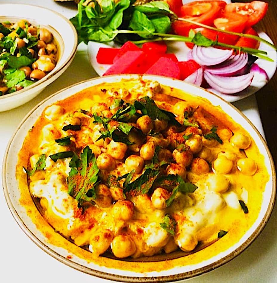 The Hirshon Syrian Whole Chickpea Hummus, Musabaha - مسبّحة