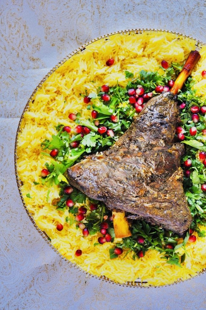 The Hirshon Omani Slow-Cooked Leg of Lamb With Spiced Rice - لشواء العماني