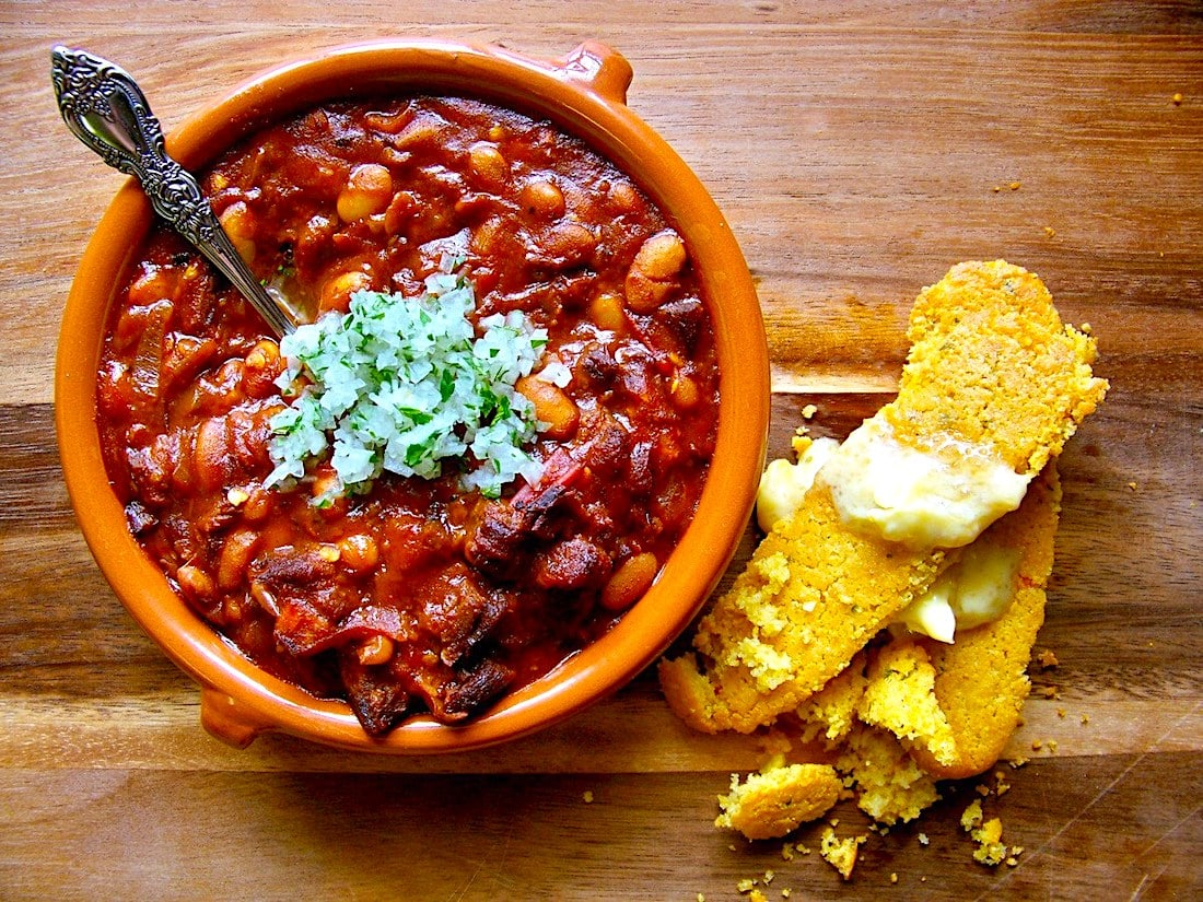 The Hirshon Texas Border Town BBQ Pinto Beans With Brisket And Bacon