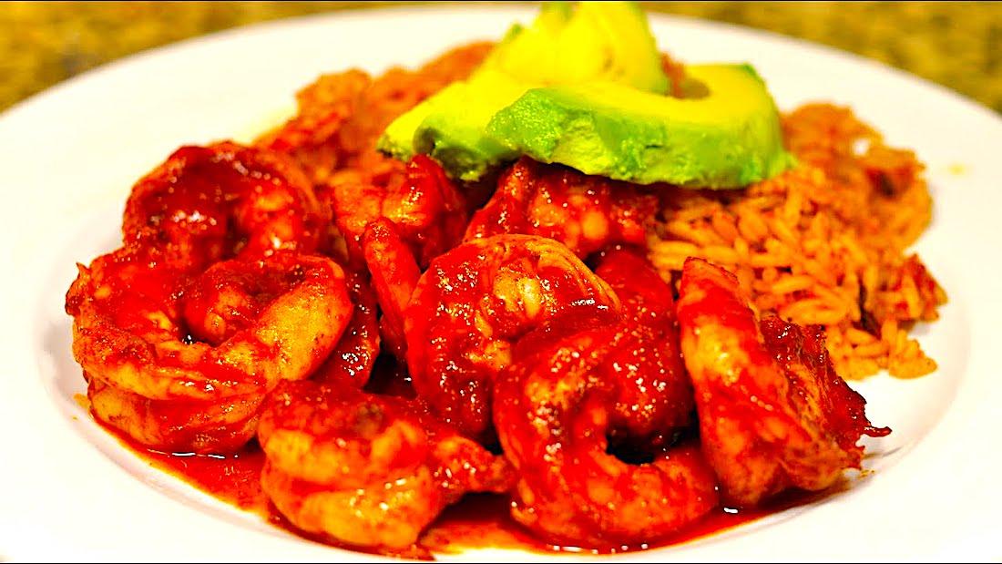 The Hirshon Mexican Deviled Shrimp with Chipotle and Achiote Paste - Camarones a la Diabla con Recado Rojo