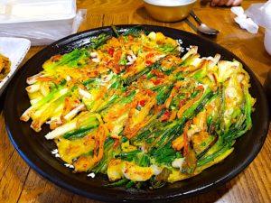 The Hirshon Korean Savory Scallion and Scallop Pancake – 해물파전
