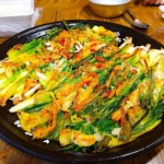 The Hirshon Korean Savory Scallion and Scallop Pancake - 해물파전