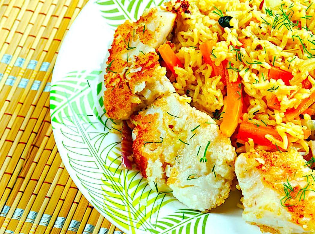 The Hirshon Turkmenistan Fish and Saffron Pilaf - Balyk We Zagpyran Pilav