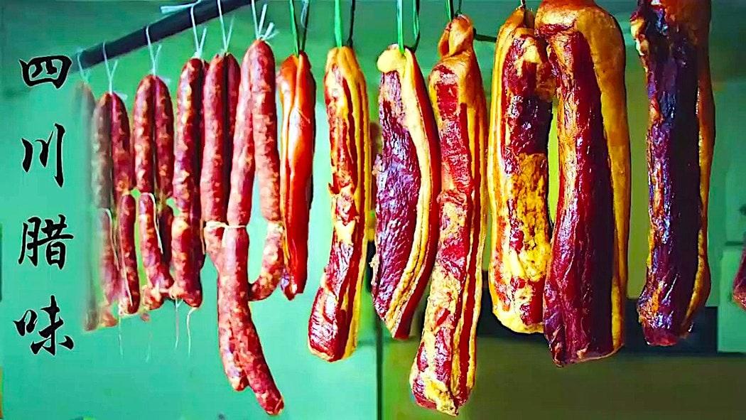 Li ZiQi's Sichuan Ham and Sausages - 四川培根和香肠