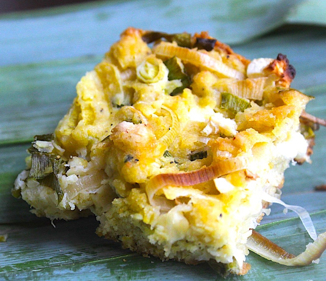 The Hirshon Albanian Cornmeal Flat Bread With Leeks And Cheese – Pispili Me Presh