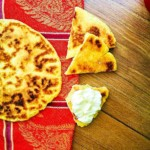 Paula Wolfert's Amazigh (Berber) Semolina Skillet Flatbread - ⴰⴴⵔⵓⵎ and أغروم