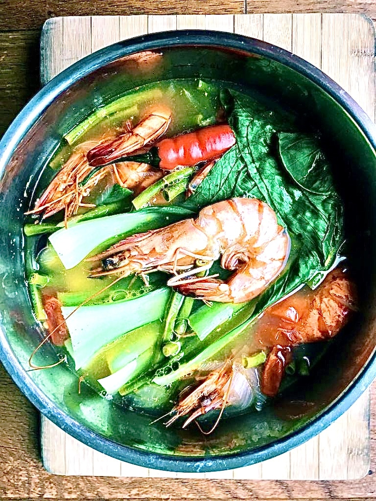 The Hirshon Filipino Sour Shrimp Soup Sinigang Na Hipon The Food Dictator