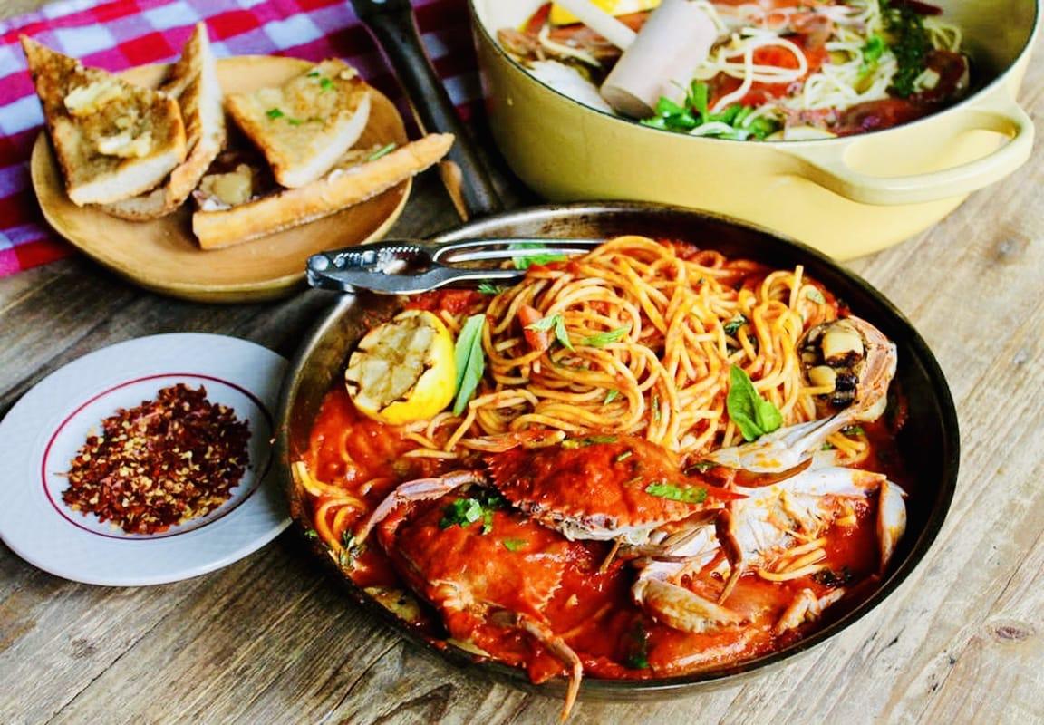 The Hirshon Ultimate Philadelphia Crabs & Spaghetti
