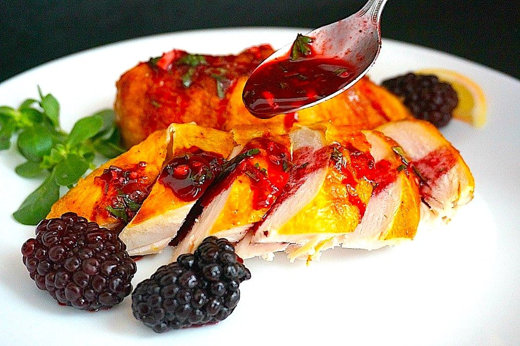The Hirshon Georgian Chicken With Rachuli Blackberry Sauce - ქათამი რაჭული სოუსით