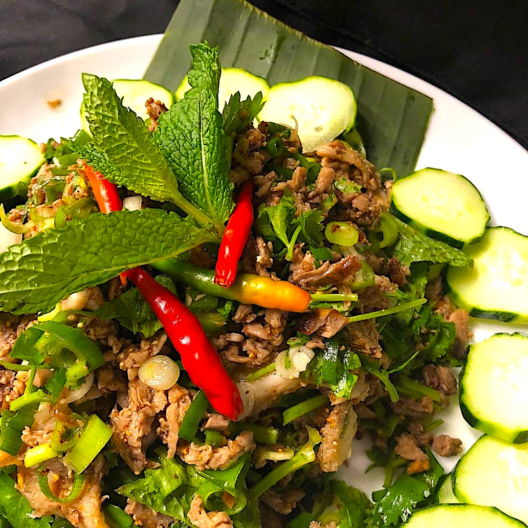 The Hirshon Laotian Spicy Duck and Herb Larb – ເປັດ ລາບ