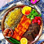 The Hirshon Iranian Sabzi Polo Ba Mahi Herbed Rice With Fried Fish - سبزی پلو با ماهی