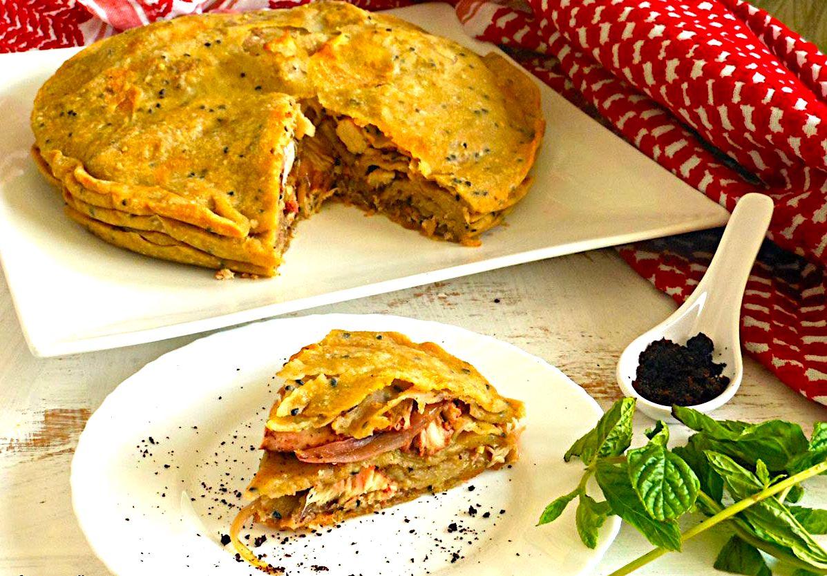 The Hirshon Hashemite Jordanian Makmoura (Spiced Chicken And Onion Pie) – مكمورة